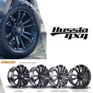 "18"" HUSSLA AMBUSH WHEELS & TYRE FORD RANGER WILDTRAK XLT 
