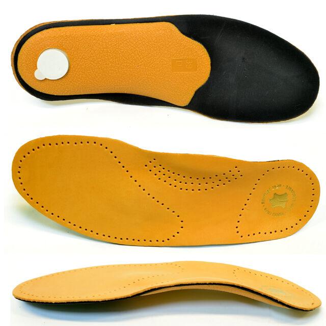 Premium Luxus Fußbett Schuh Leder Einlegesohle orthopädische Einlagen Sohle Gel