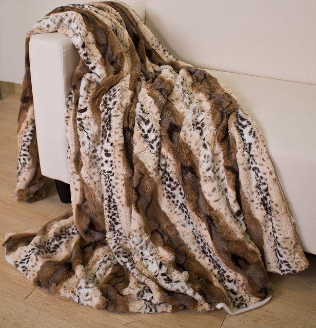 Wohndecke Fellimitatdecke Leopard Kuscheldecke  Tagesdecke 150x200cm