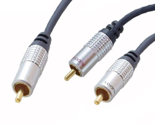 1m Y Cinch Subwooferkabel Subwoofer Kabel OFC RCA Chinch Y-Kabel Y Adapter HIFI
