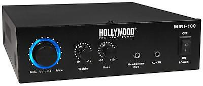 HiFi-Verstärker HOLLYWOOD Mini, 100W, 1x Line In, 230V oder 12V