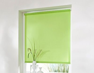 Klemmrollo Luxury  Sonnenschutzrollo mit Abdunklung apfel grün  45 -100 cm breit