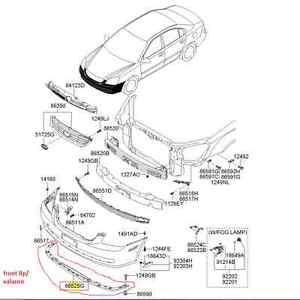2006-2008-KIA-OPTIMA-FRONT-BUMPER-LIP-VALANCE-FACTORY-OEM