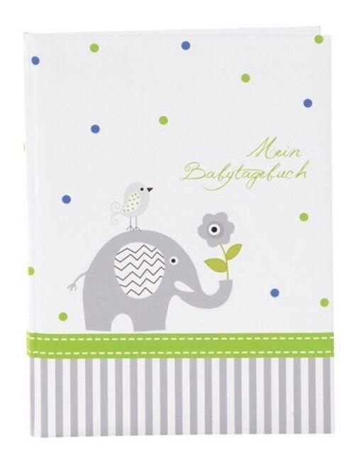 Goldbuch Babytagebuch Baby Album Fotoalbum Elefant blau Baby Tagebuch