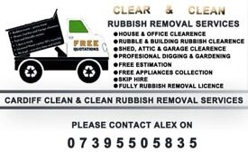 council sofa collection cardiff ultra suede sectional waste removal rubbish clear clean service