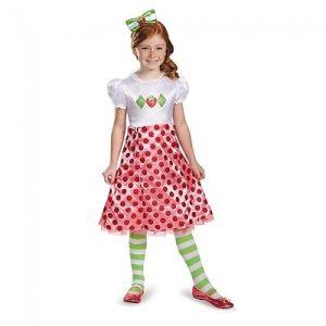 Girls Strawberry Shortcake Costume Fancy Dress Short Cake Toddler Child Kids NEW