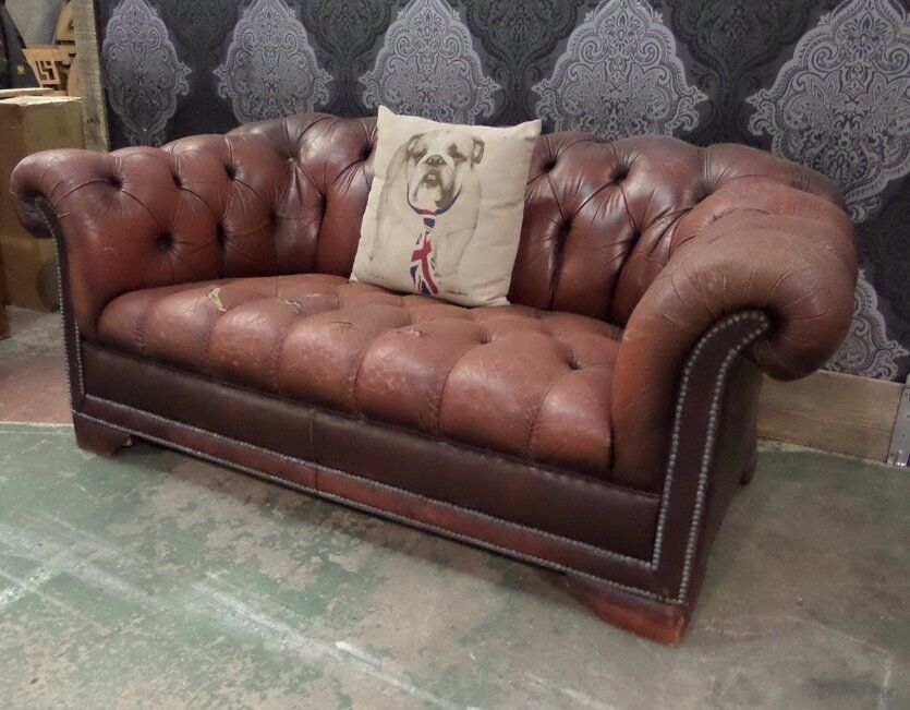 shabby chic sofa bed uk home office sleeper pendragon chesterfield 2 seater delivery in
