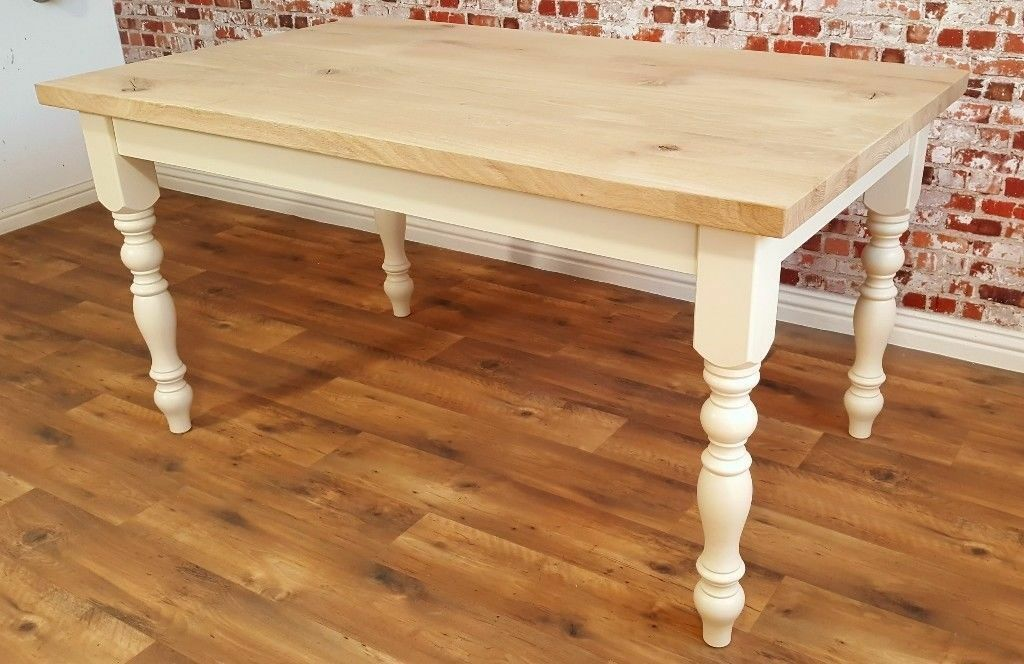 kitchen table cheap motels with kitchens oak chunky european rustic wood dining natural farmhouse full stave free delivery