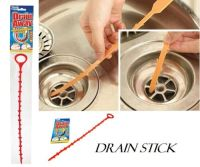 DRAIN UNBLOCKER STICK CLEANING HAIR REMOVEL CLEANER SINK ...