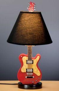 Guitar Table Lamp Ceramic music lover gift! Fun lighting ...