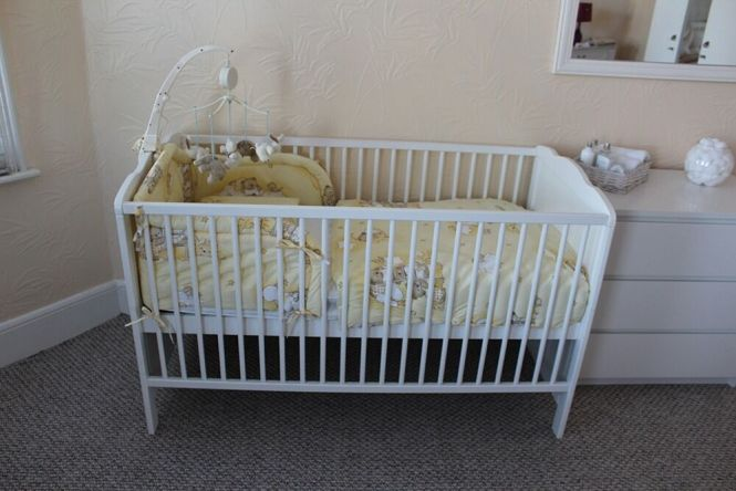 Cot Bed Including Mattress And Extras Very Good Condition