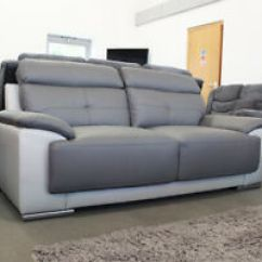 Discount Sofas Sale Ikea White Leather Sofa Clearance Ebay Linden 3 2 Seater Two Tone Dark Grey Brand New