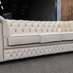 Free Sofa Uplift Glasgow Soccer Ball Saxon Leather Birch Ivory Chesterfield 3 Seater ...