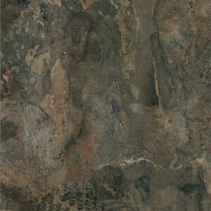 "Dark Slate Stone Marble Self Stick Vinyl Floor Tiles - 40 pcs 12"" x 12"""