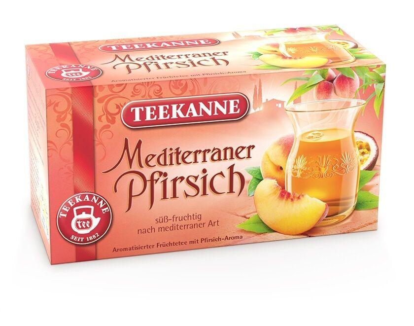 TEEKANNE * Ländertee * Mediterraner Pfirsich * Früchtetee * 20 Beutel á 2,5g