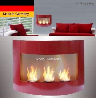 Kamin Marseille-Rot für Brenngel o. Ethanol / gelkamin ethanolkamin bioethanol