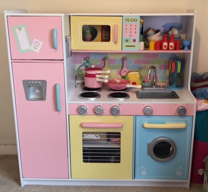 wooden kids kitchen faucets cheap and accessories very good condition size 107cm wide x 109cm high 40cm deep