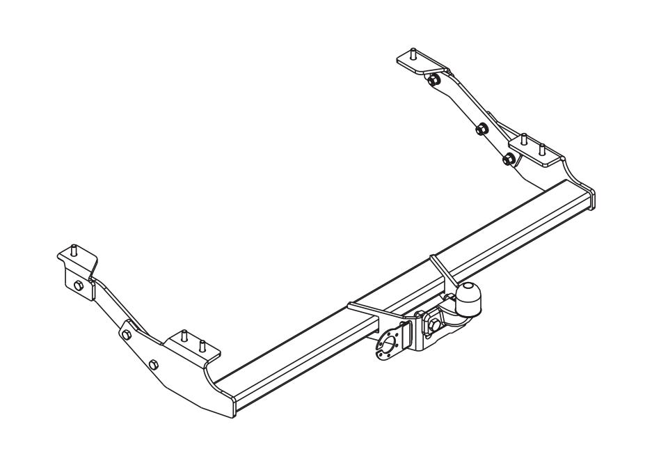 Anhängerkupplung starr für Renault Trafic L1 L2 Kasten