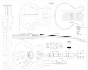 Gibson-CS356-archtop-Full-scale-Electric-Guitar-Plans