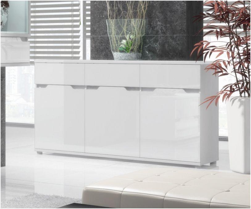 Aspire High Gloss White Lounge Furniture Sideboard TV Unit