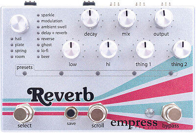 Empress Effects Reverb guitar effect pedal brand new