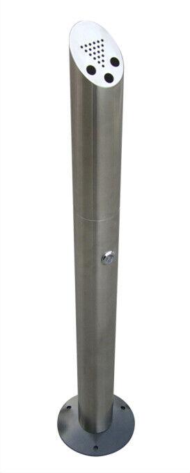 Standascher Standaschenbecher Außenbereich 92cm mit Bodenplatte Metall 606819