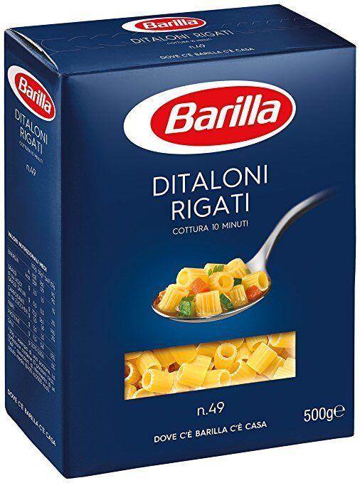 10x Pasta Barilla Ditaloni rigati Nr. 49 italienisch Nudeln 500 g pack