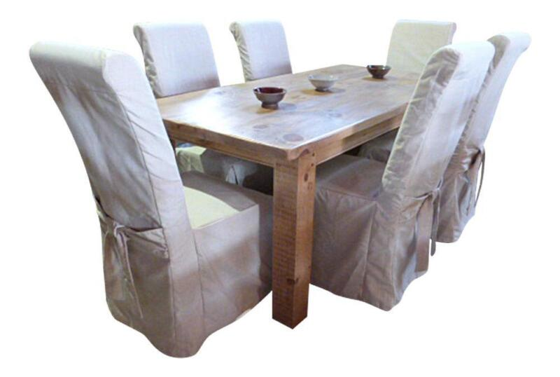 dining room chair covers set of 6 office wheel   ebay