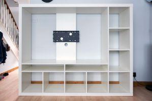 TV storage unit white stand, IKEA LAPPLAND RRP £125 ...