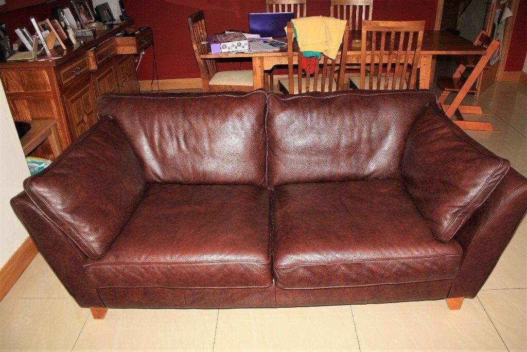 barletta sofa 3 seat cushion covers m s medium brown leather in lisburn county antrim