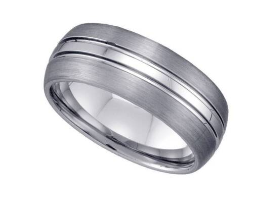 Geraud Tungsten Wedding Band Mens Triple Grooved  Comfort Fit 9mm Sz 7 to 14  eBay