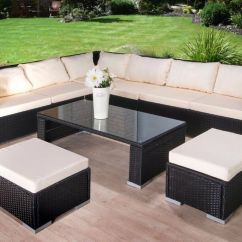 Sofas Quick Delivery Uk Furniture Village Ireland Free Luxury Rattan Garden Corner Sofa With Stools And Table