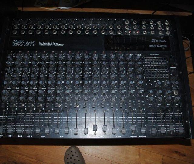Sound Mixer Inkel Stagemaster Professional Mx 1810 Slim Type 18 Channel Stereo Audio Mix