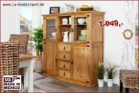 MEXICO Highboard Sideboard Schrank, Pinie, mexikanische