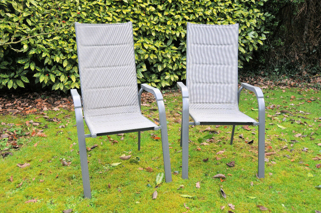 woven plastic garden chairs swing chair ikea malaysia two metal and excellent condition