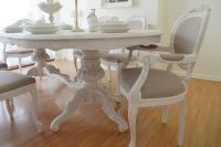 SUMMER DEAL !!! *** Antique Shabby Chic Dining Table & Six ...