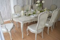UNIQUE *** French Antique Shabby Chic Dining Table and ...