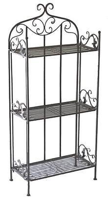 Stabiles Standregal *Klappregal* Regal Eisen Metall antik  50 x 113 cm  Landhaus