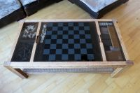 Retro antique vintage gaming glass top coffee table ...