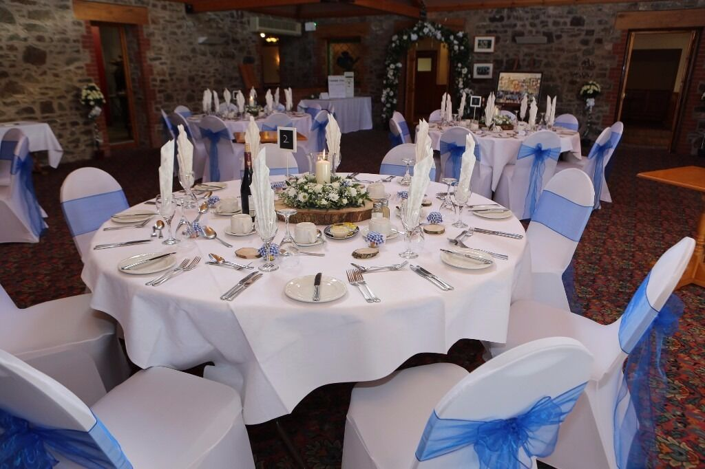 wedding chair covers devon chippendale ribbon back dining chairs hire white lycra with sashes in any colour 130 for 100