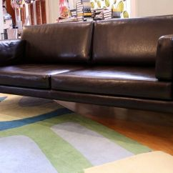 Ikea Sater Sofa Uk Polish Bed Dark Brown Faux Leather For Sale In Chester
