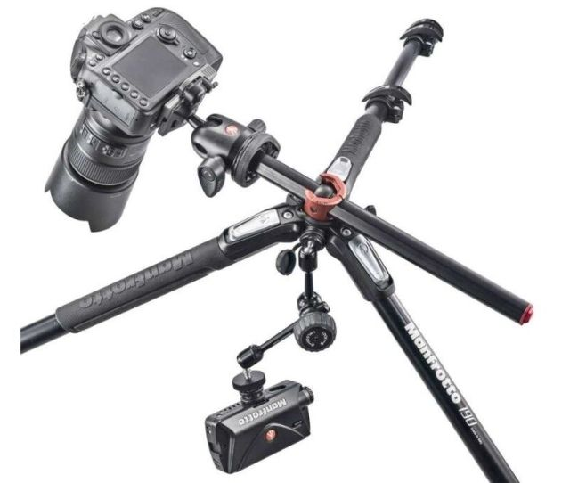 Camera Tripod Manfrotto Mt190x Prob  Section Lightly Used