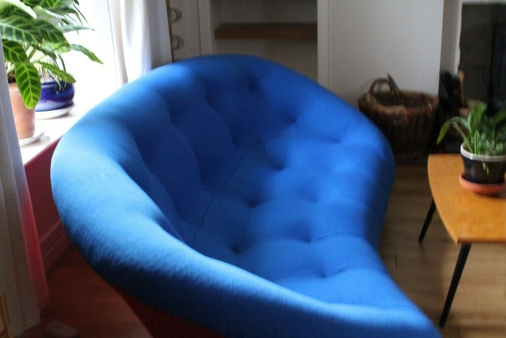 dark brown sofa with blue pillows bohemian uk designer ligne roset ploum four seater one of a ...
