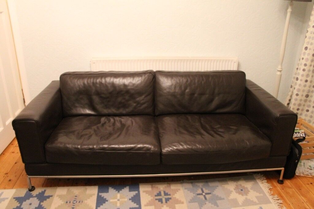 Ikea Arild Brown Leather Sofa Inspirational Interior Style