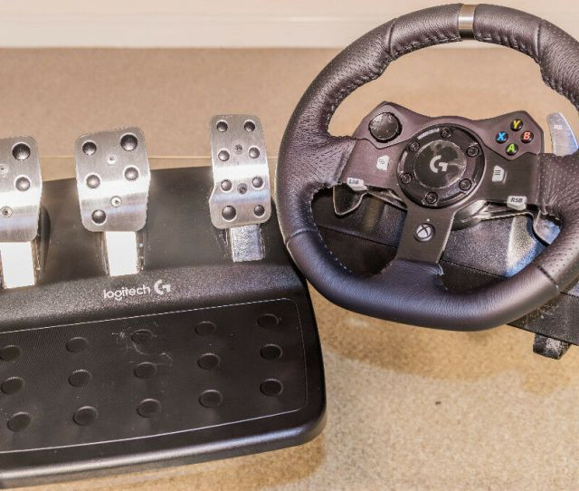 Logitech G920 Driving Force Gt Racing Wheel Pedals For Xbox One Pc New