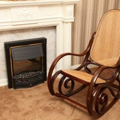 Leather Recliner Chairs With Footstool Chameleon Chair Covers Yeovil Antique Style Wood And Rattan Weave Cane Rocking | In Norwich, Norfolk Gumtree