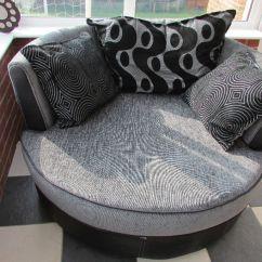 Chesterfield Sofa Black Velvet Leather Sofas Glasgow Area Dfs Shannon Grey/black Cuddle Chair | In Ashford, Kent ...