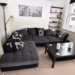 Swivel Chaise Lounge Chair Faux Fur Throw Sofology Napier Tower Corner Sofa And Cuddler Charcoal Grey Black | In Lewisham ...