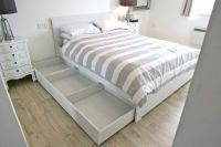 IKEA King Size Bed with Storage 6 Months Old Brusali Bed ...
