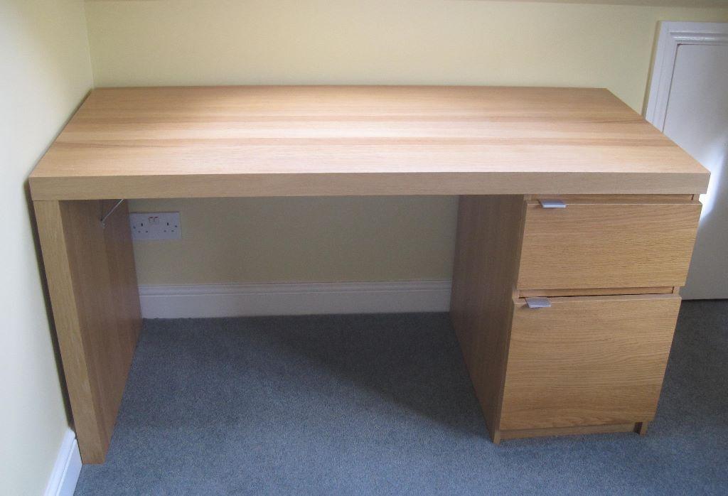 MALM Desk  IKEA oak veneer  in Chatham Kent  Gumtree